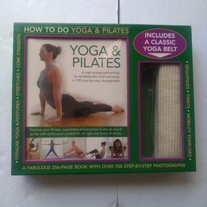 How To Do Yoga & Pilates Book and Yoga Belt NEW